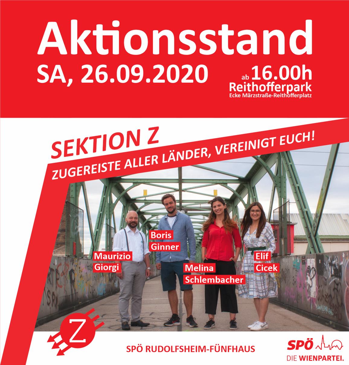 Aktionsstand Wienwahl 2020